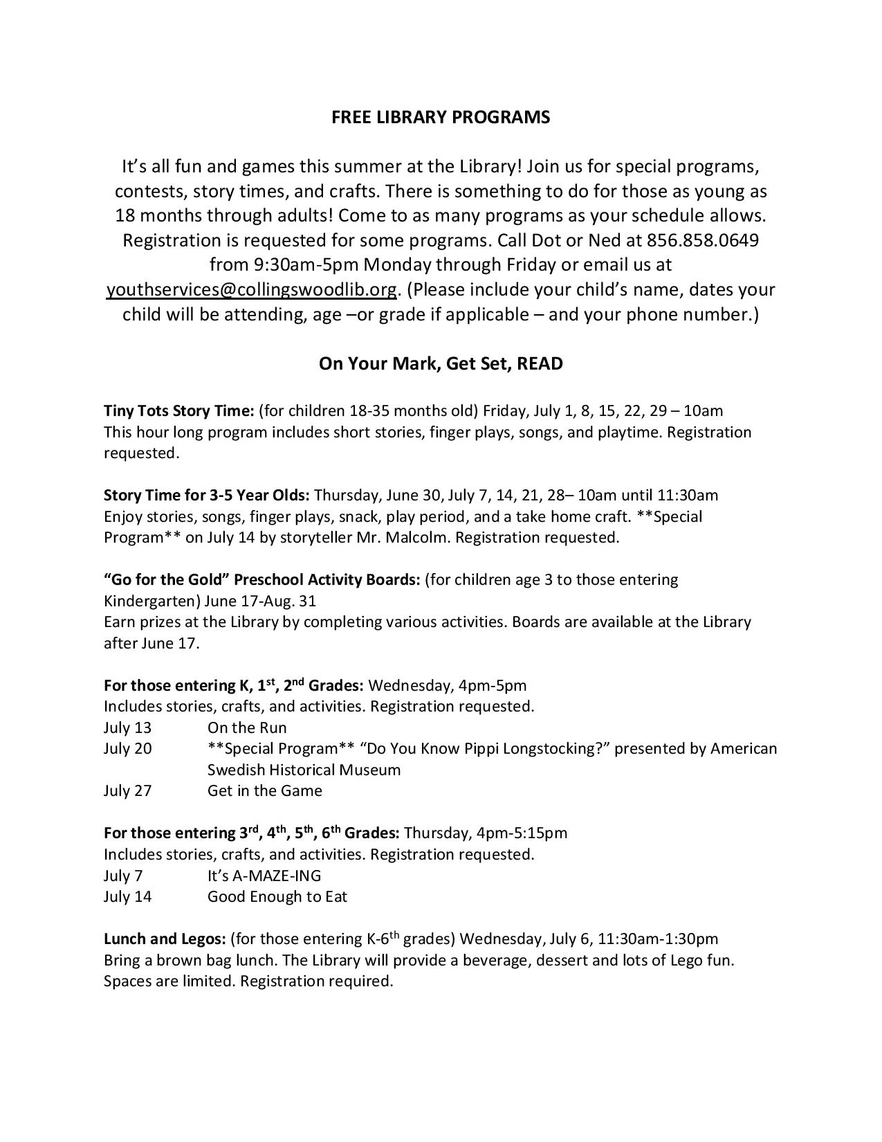 FREE LIBRARY PROGRAMS-page-001 | Collingswood Public Library